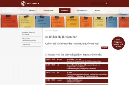 Seminar-Suchfunktion in TYPO3