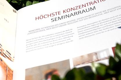 Einblick in die Haus Ohrbeck Broschüre