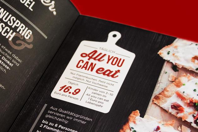 """Das """"All You Can Eat""""-Angebot ist für jeden sofort ersichtlich"""