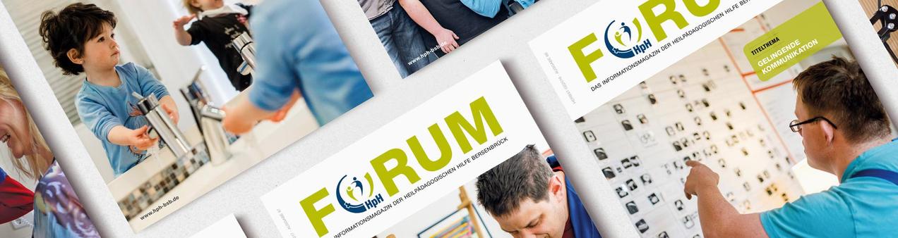 Übersicht der Titel des Infomagazins FORUM der HpH Bersenbrück