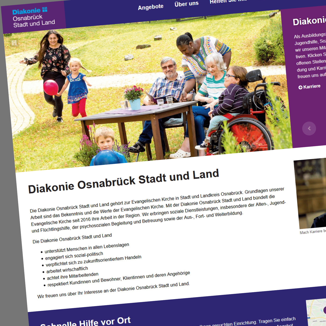 Diakonie Osnabrück Stadt und Land Screenshot