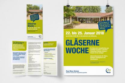 Folder sowie Plakat für eine Veranstaltung