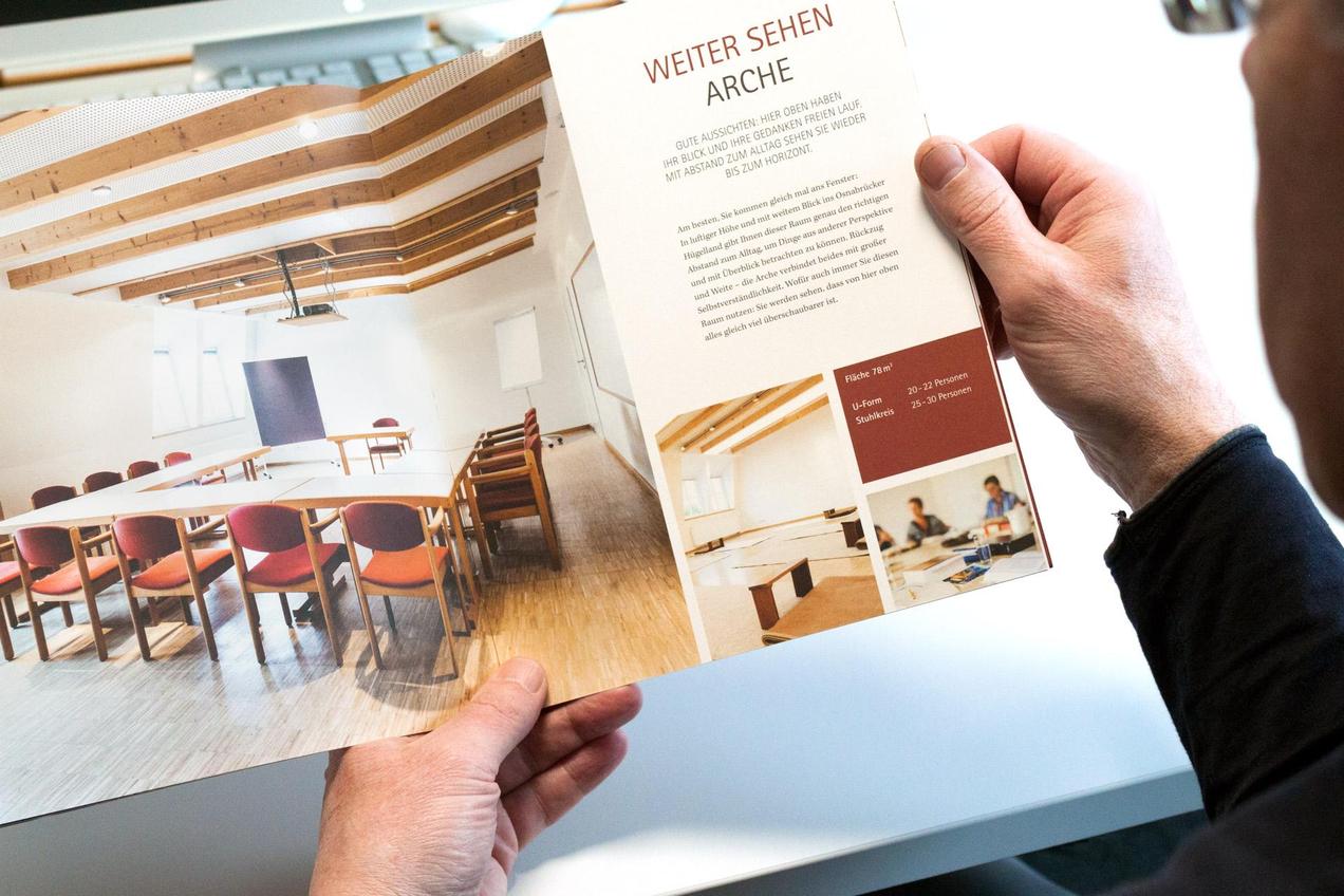 Einblick in die Imagebroschüre von Haus Ohrbeck