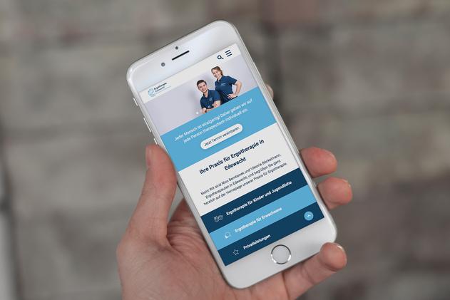 Auch auf dem Smartphone ist die Website einfach erreichbar