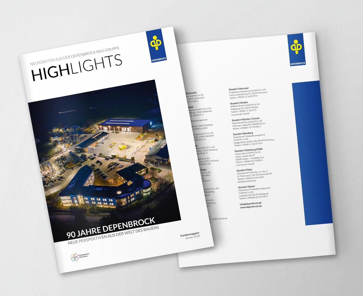 Titel und Rückseite der Highlights 2018