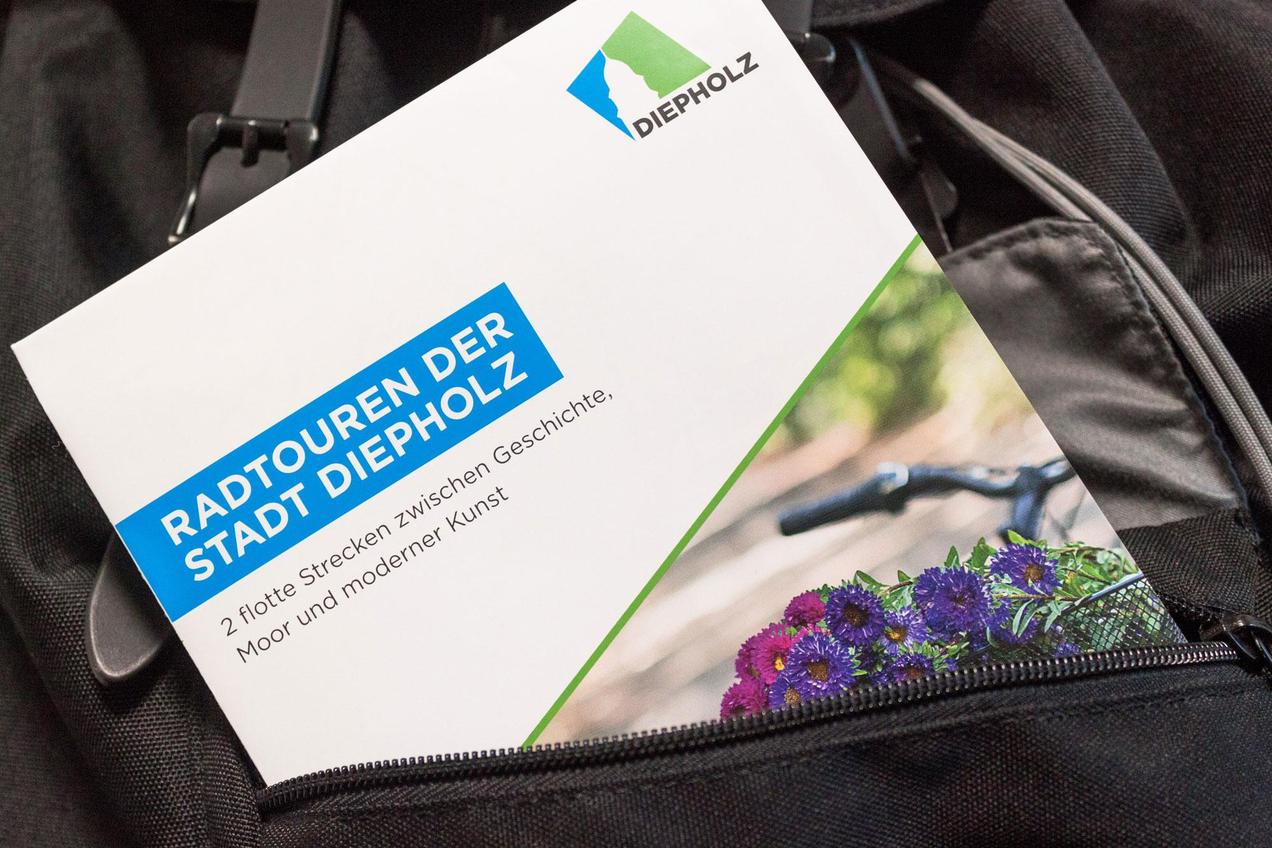 Informative Fahrradkarte der Stadt Diepholz