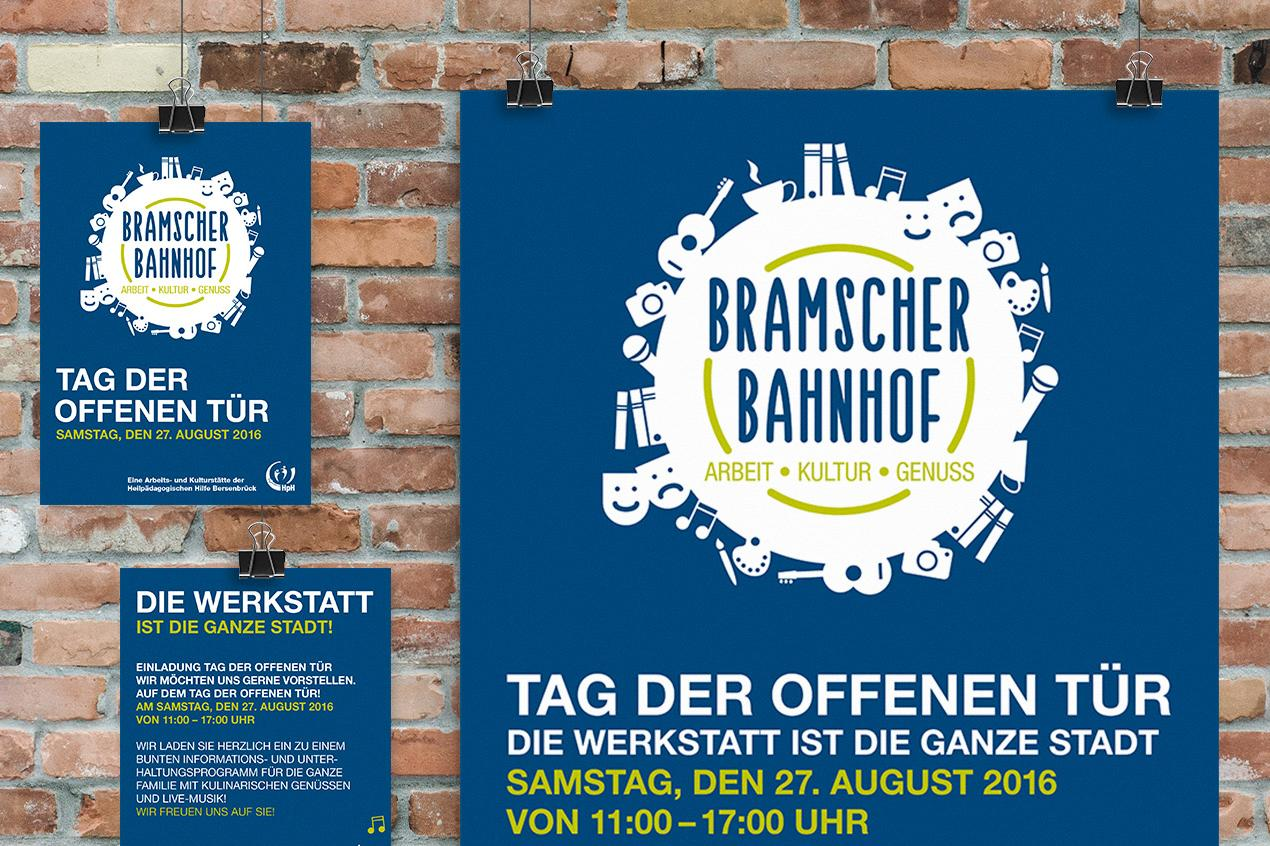 Werbemittel des Bramscher Bahnhofs der HpH Bersenbrück