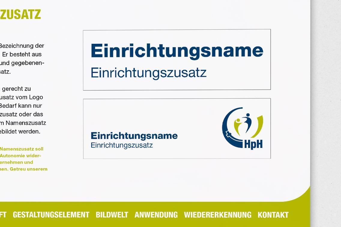 Namenszusatz im Logo der Heilpädagogischen Hilfe Bersenbrück