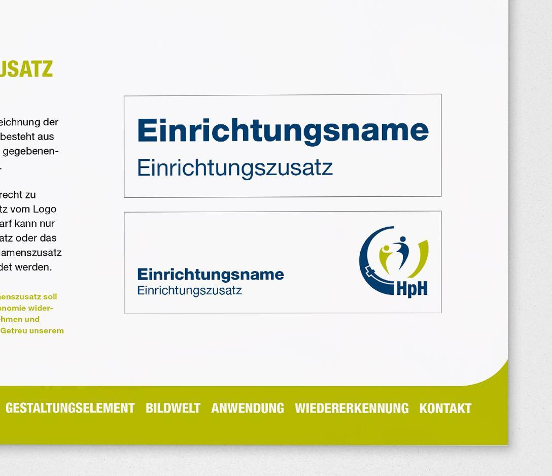 Auszug aus dem Gestaltungsmanual der HpH Bersenbrück