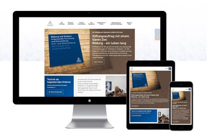 Responsive Website der Ulderup Stiftung
