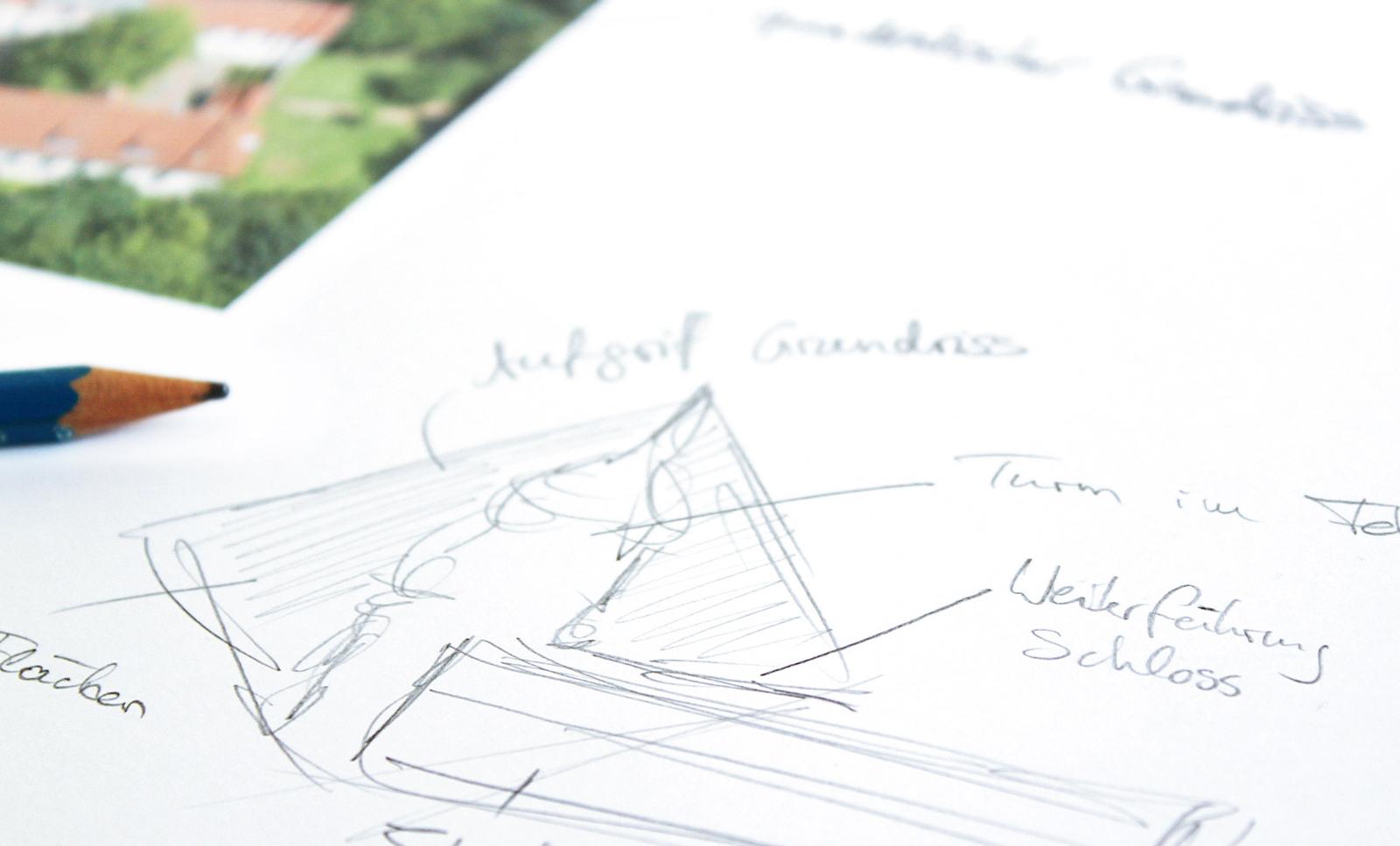 Scribble zur Logoentwicklung der Stadt Diepholz